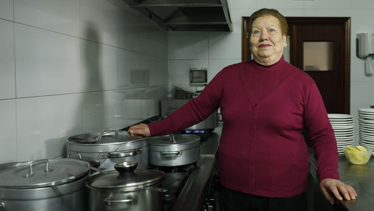 Rosa Blanco, cocinera ourensana galardonada en la Feira do Cocido de Lalín