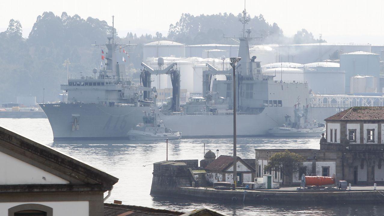 Maniobra de entrada en la ría de Ferrol