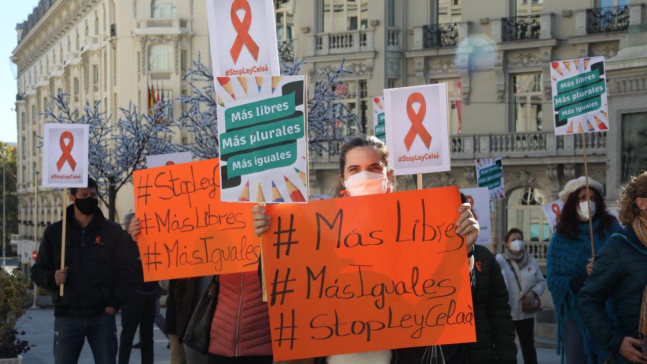 Imagen de una concentración contra la Ley Celaa