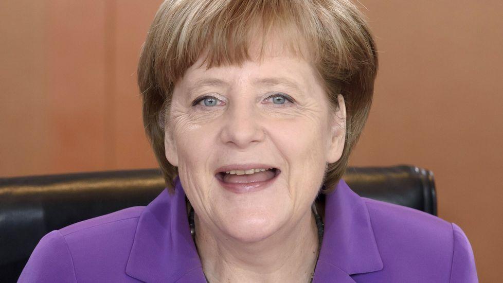 En el apartado de Líderes. Angela Merkel.