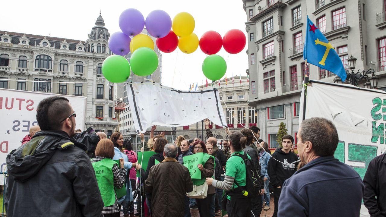 Manifestación en Oviedo contra los Premios Princesa