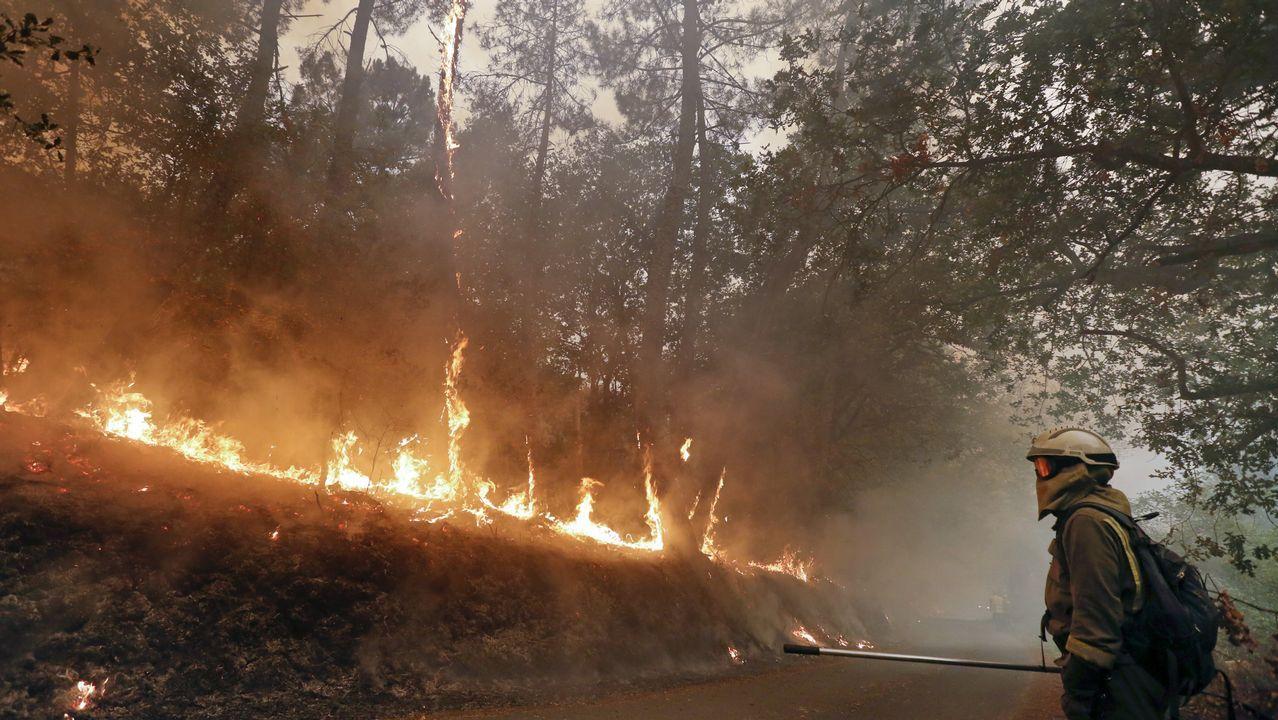 El Alto de Chavaga, las llamas estuvieron a pocos metros de las casas