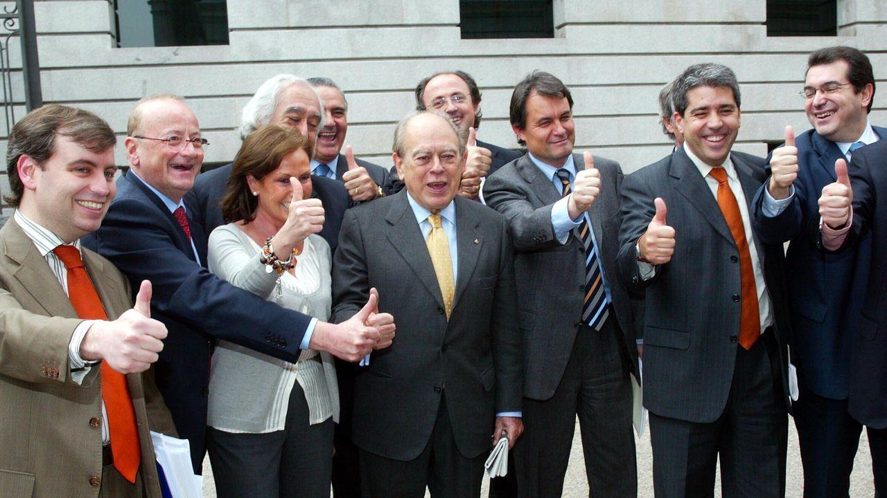 El presidente Pere Aragonès y el líder del PPC, Alejandro Fernández, en la ronda de contactos del primero con los grupos parlamentarios