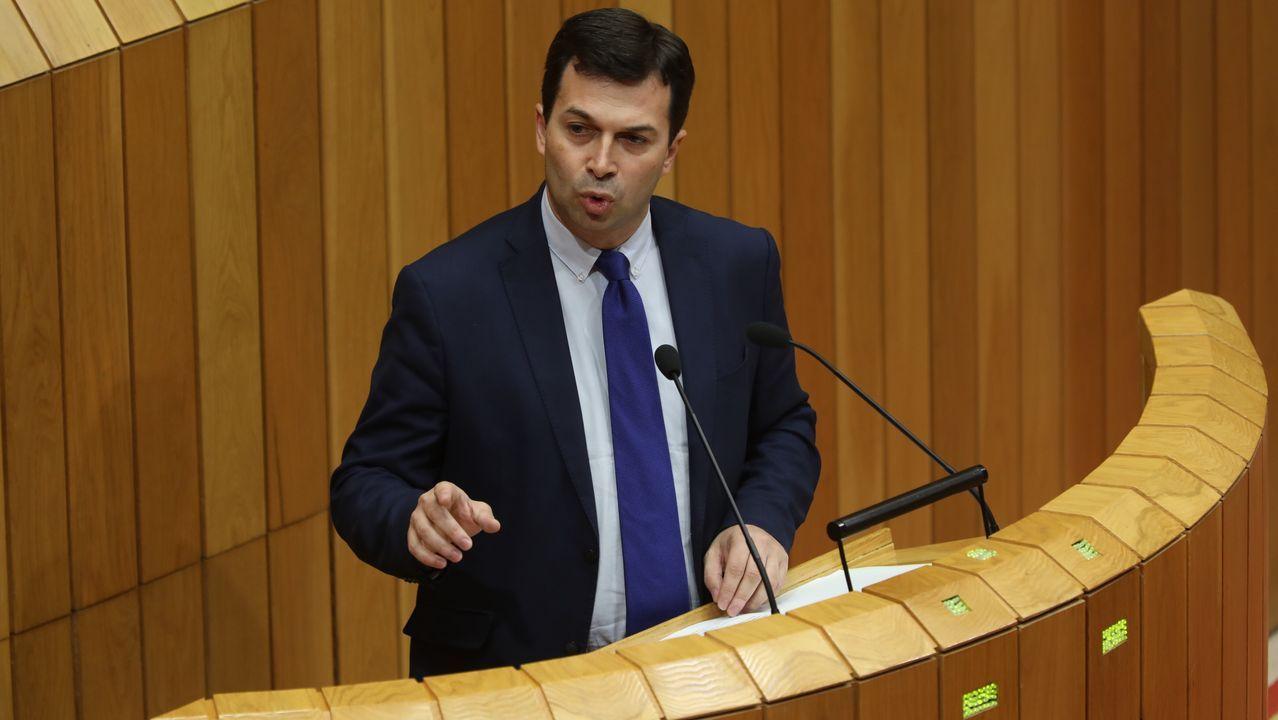 Gonzalo Caballero, secretario xeral del PSdG-PSOE, durante su intervención