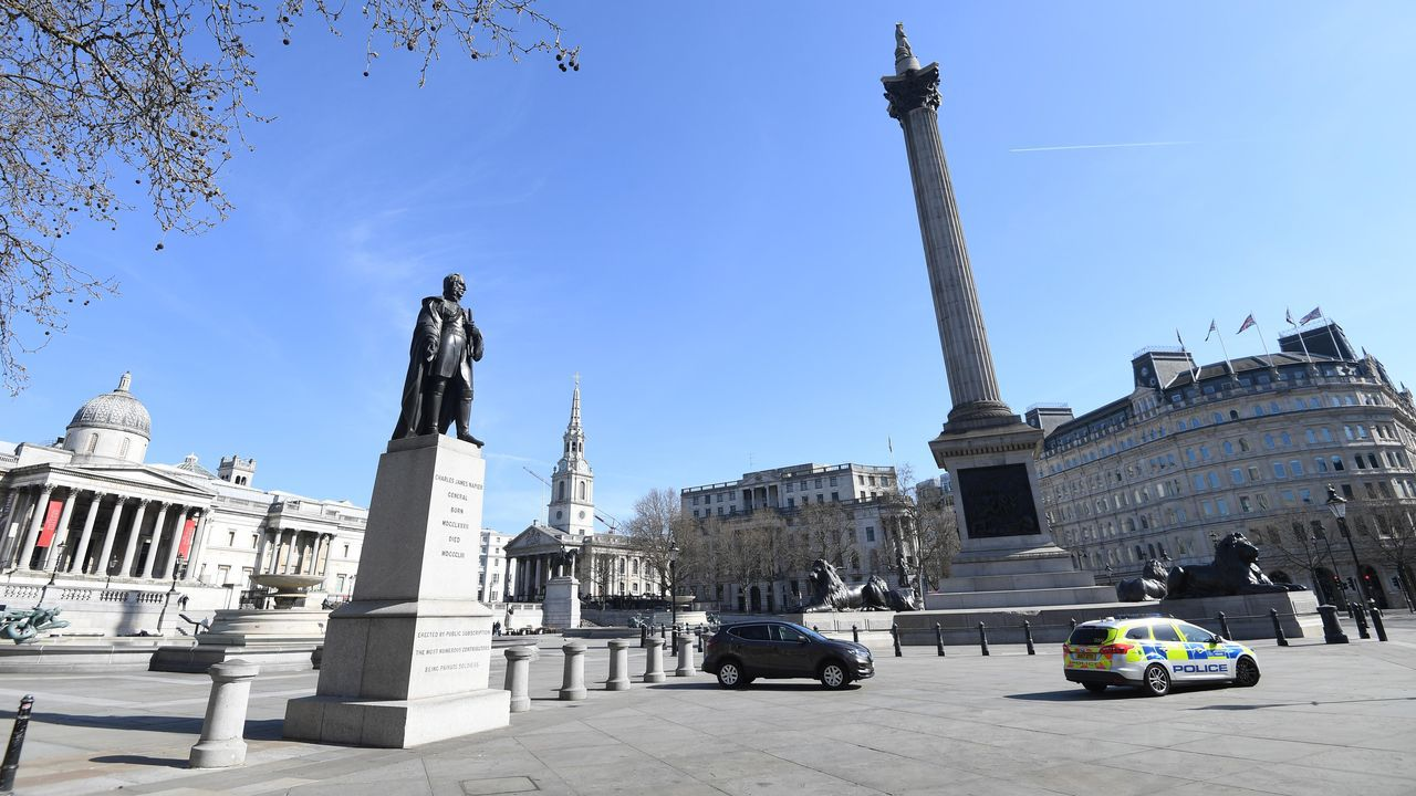 Plaza de Trafalgar, uno de los centros neurálgicos de Londres.