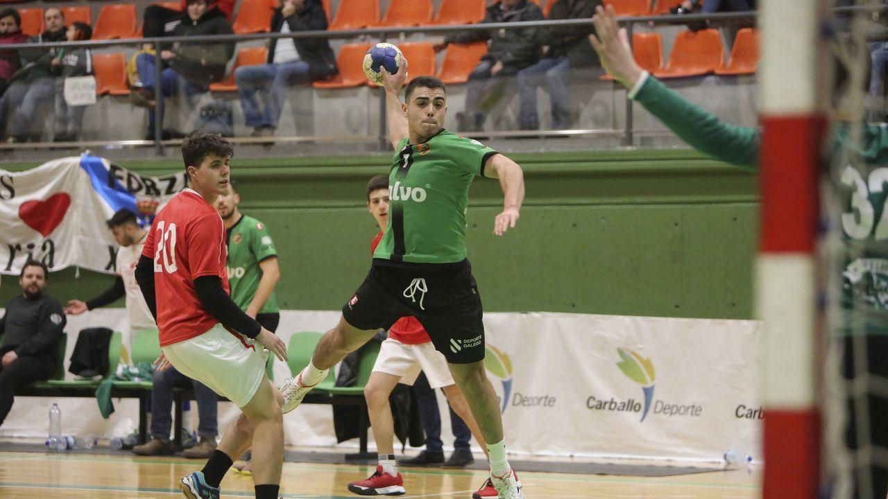 Repasa en imágenes el Calvo Xiria-Atlético Bueu:35-25.Imagen de archivo de un partido del Xiria ante el Bueu