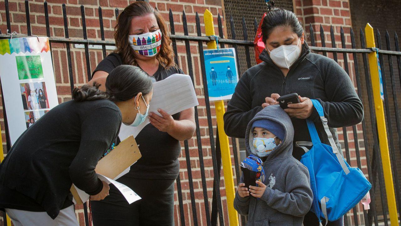 Un grupo de hispanos en Nueva York.
