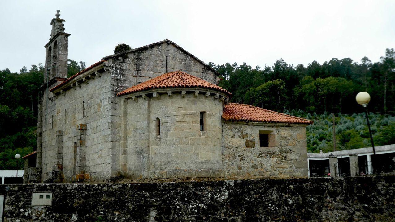 Colmenares en la parroquia de Cuíña, en Ortigueira, en una fotografía de archivo