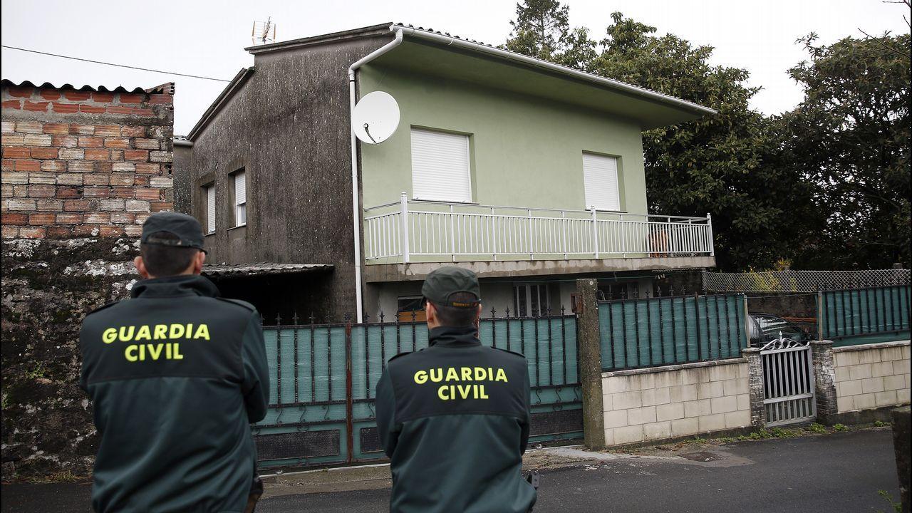 Registro en la casa de Taragoña del detenido por la desaparición de Diana Quer