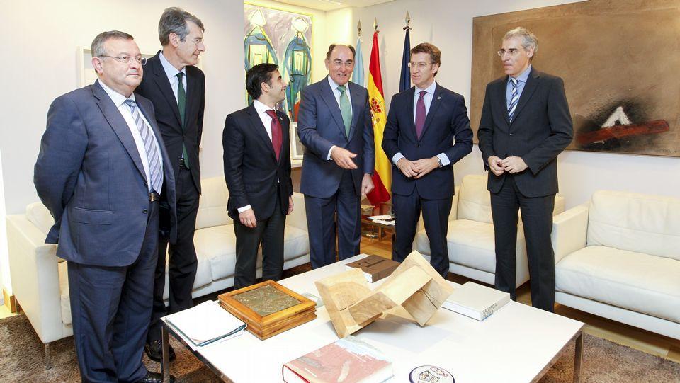 Sergio Martínez, Miguel Tellado, Ignacio Naveiras e Isidro Silveira participaron en el debate.