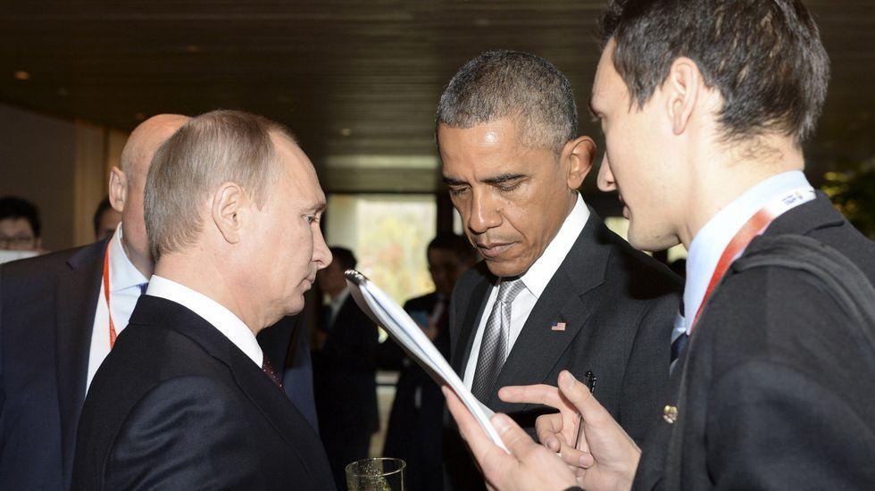 Ataque ruso sobre la provincia siria de Homs.Putin y Obama en un encuentro en el 2014.