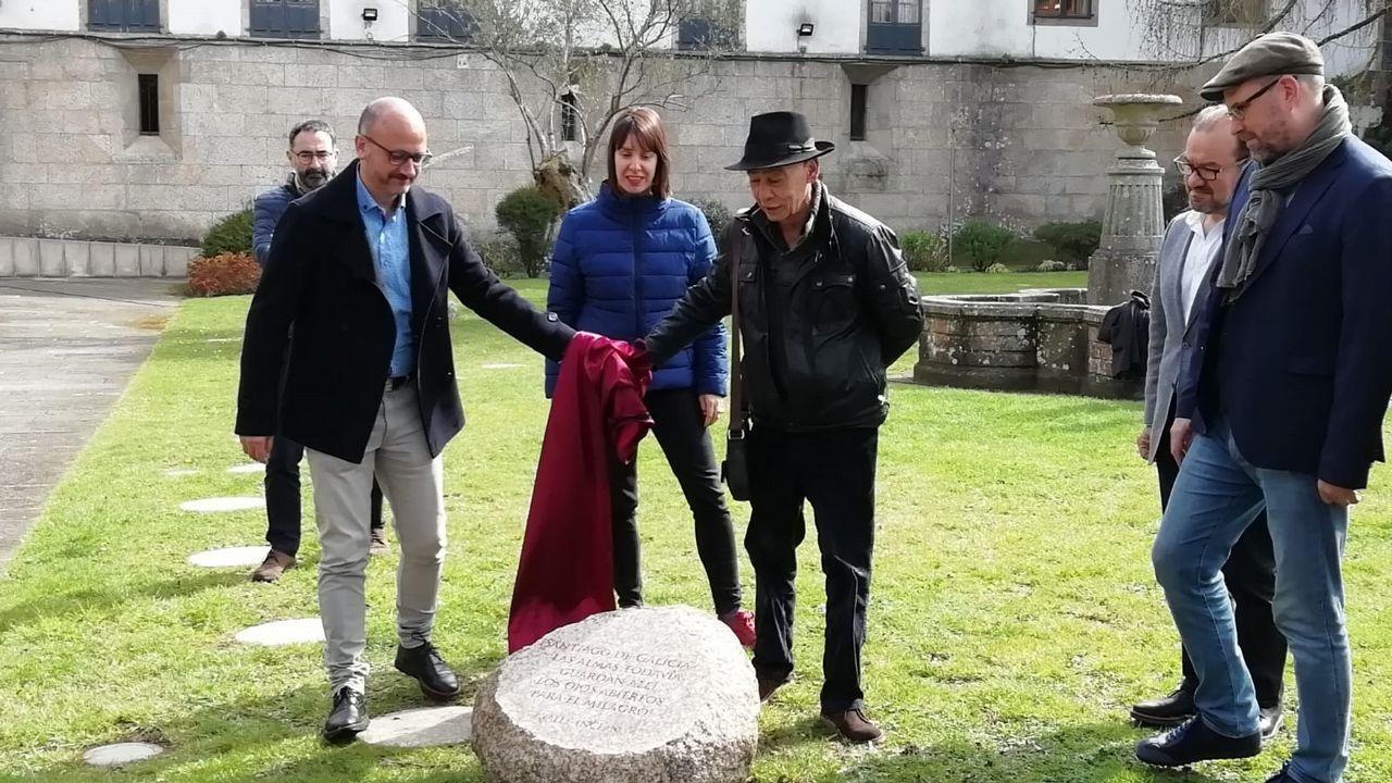 bodano.Luz Pozo, durante a presentación do seu último poemario, o pasado mes de febreiro