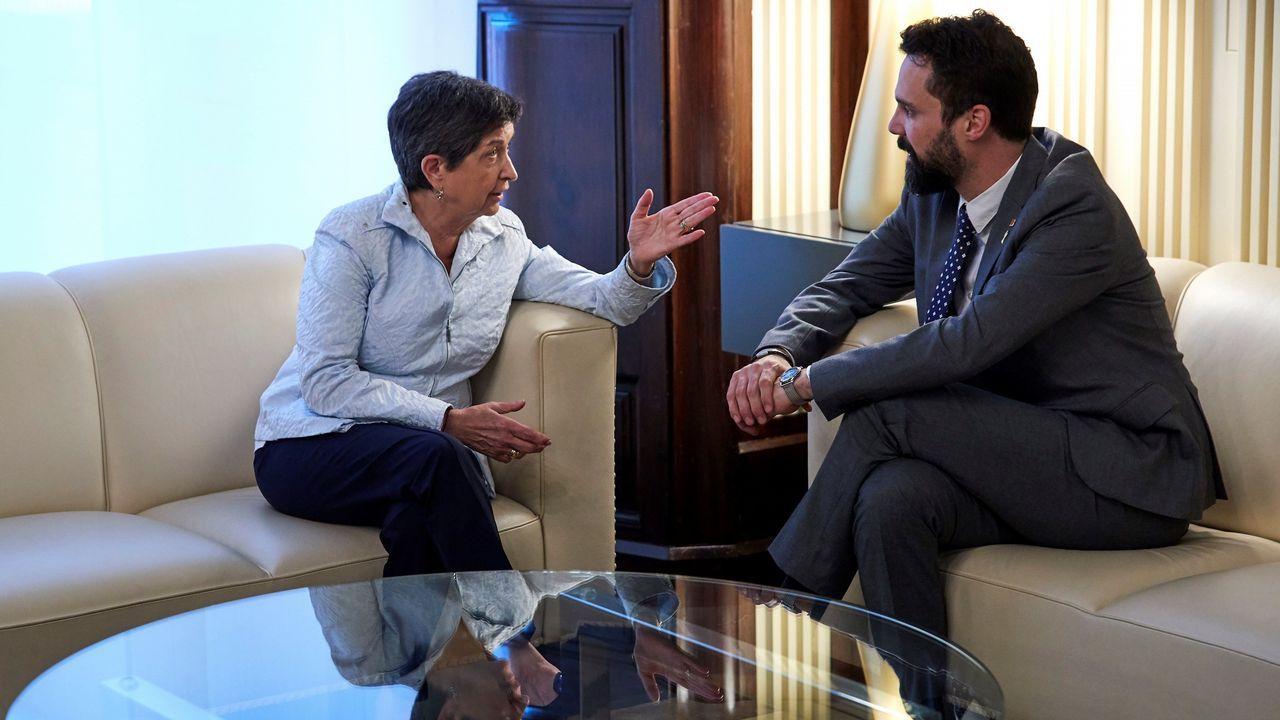 Torra y Puigdemont avisan a Sánchez de que se acaba su «periodo de gracia».Protesta ante el centro penitenciario de Lledonerrs, en Sant Joan de Vilatorrada, donde están los presos soberanistas, el pasado 11 de julio