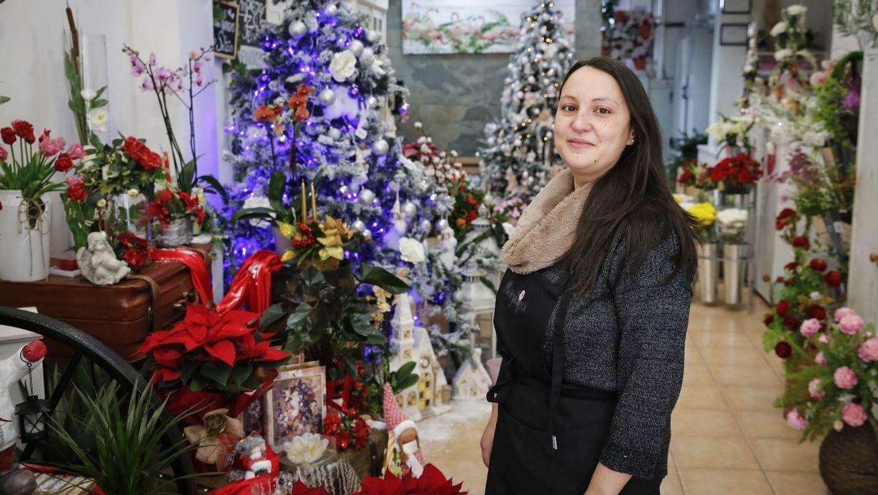 Andrea Filipa realiza centros florales especiales para Navidad