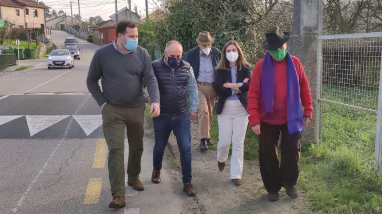 Los diputados del PP de Pontevedra visitaron el tramo junto a representantes de la Asociación Amigos do Camiño Portugués a Santiago