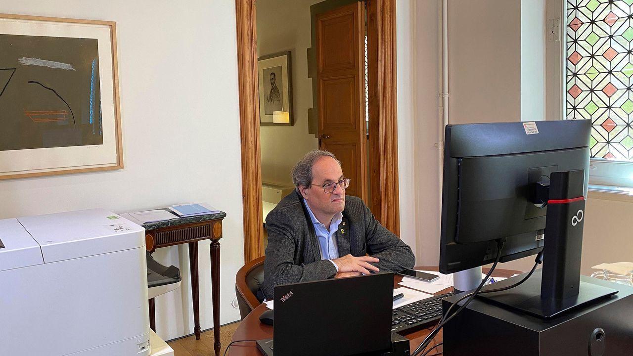 El general Laurentino Ceña observa a Marlaska en la toma de posesión de María Gámez como directora de la Guardia Civil.El ministro de Justicia, Juan Carlos Campo, durante el debate en el Congreso