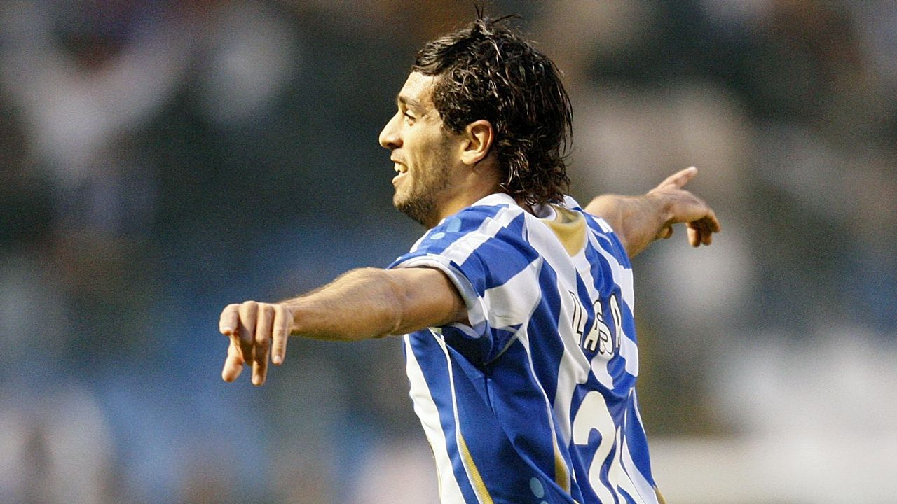 Lassad celebrando un gol ante el Almería