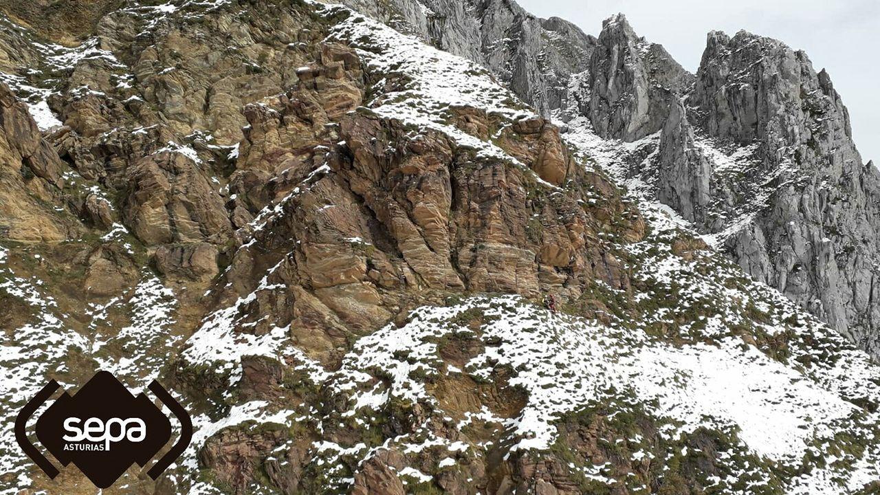 Rescate de montaña en Lena