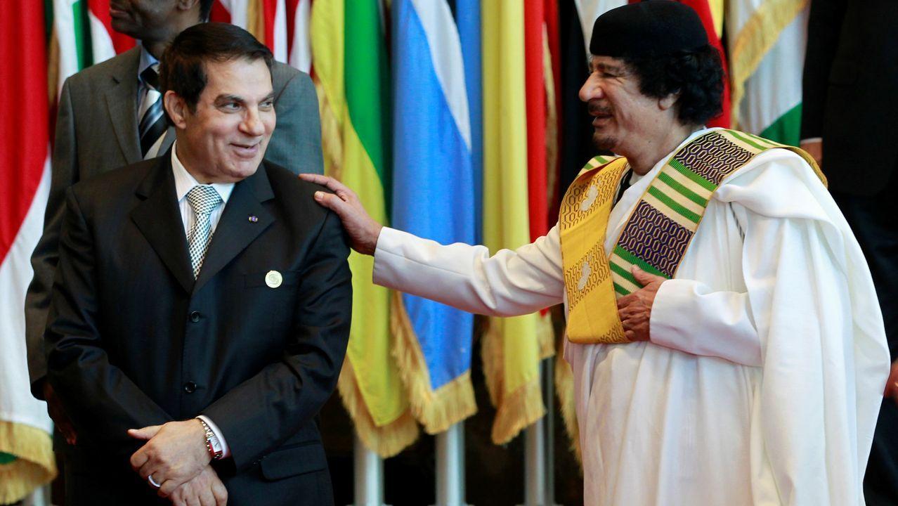 ELVIRA TEJADA DE LA FUENTE, FISCALA DE CRIMINALIDAD INFORMATICA.Ben Alí y Gadafi, en el 2010, un año antes de que la Primavera Árabe los expulsara del poder