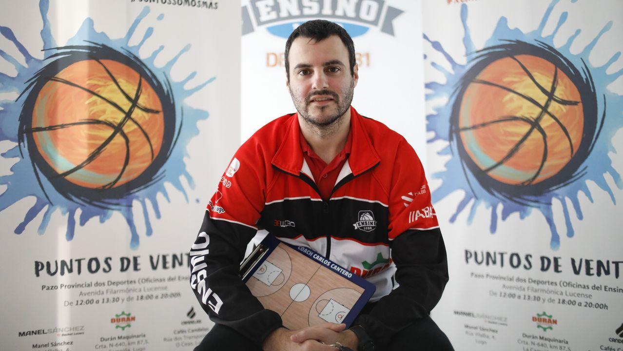 Cruz Roja habilita un 'Fogar do Transeunte' de campaña en el pabellón municipal de deportes.Britany Miller en un partido con el Ensino