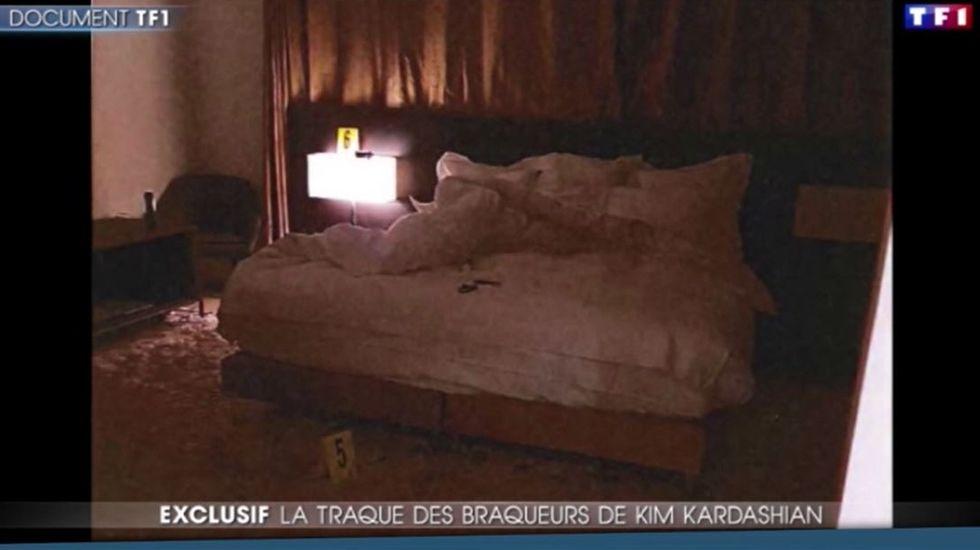 Las imágenes del robo a Kim Kardashian en París