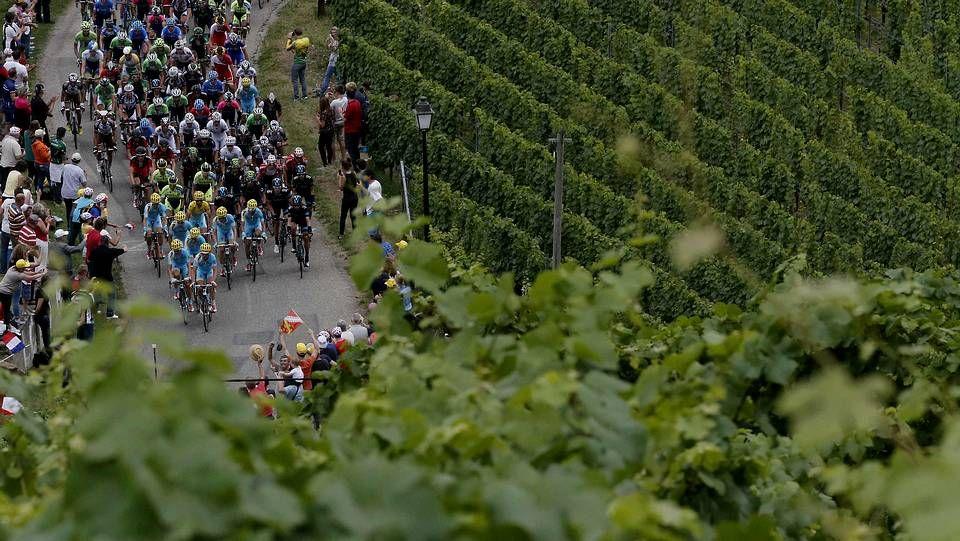 El sufrimiento de Contador.En la imagen, Vincenzo Nibali, durante la jornada de descanso que ayer tuvieron los corredores en el Tour.