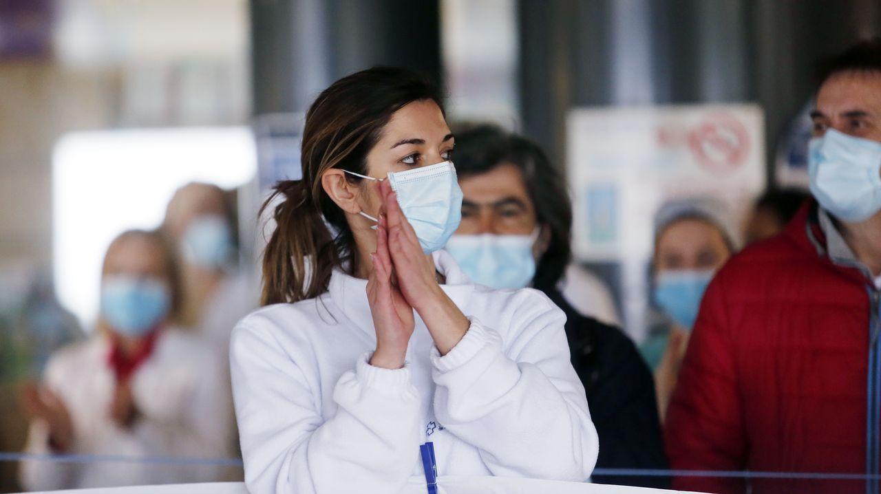 Visitantes Feria de Muestras Asturias.Concentración de sanitarios para reclamar EPIS, test y personal