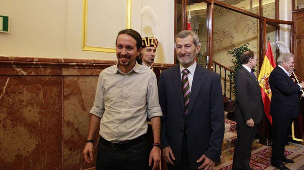 Ovidio Sánchez y Agustín Iglesias Caunedo..Pablo Iglesias y Julio Rodríguez