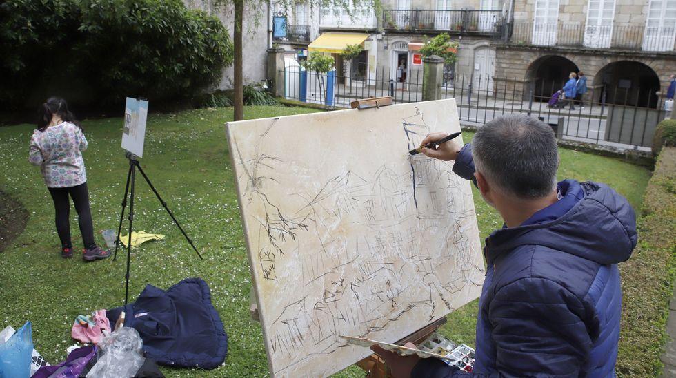 Los socialistas celebraron el Día de Galicia frente al busto de Castelao en Rianxo