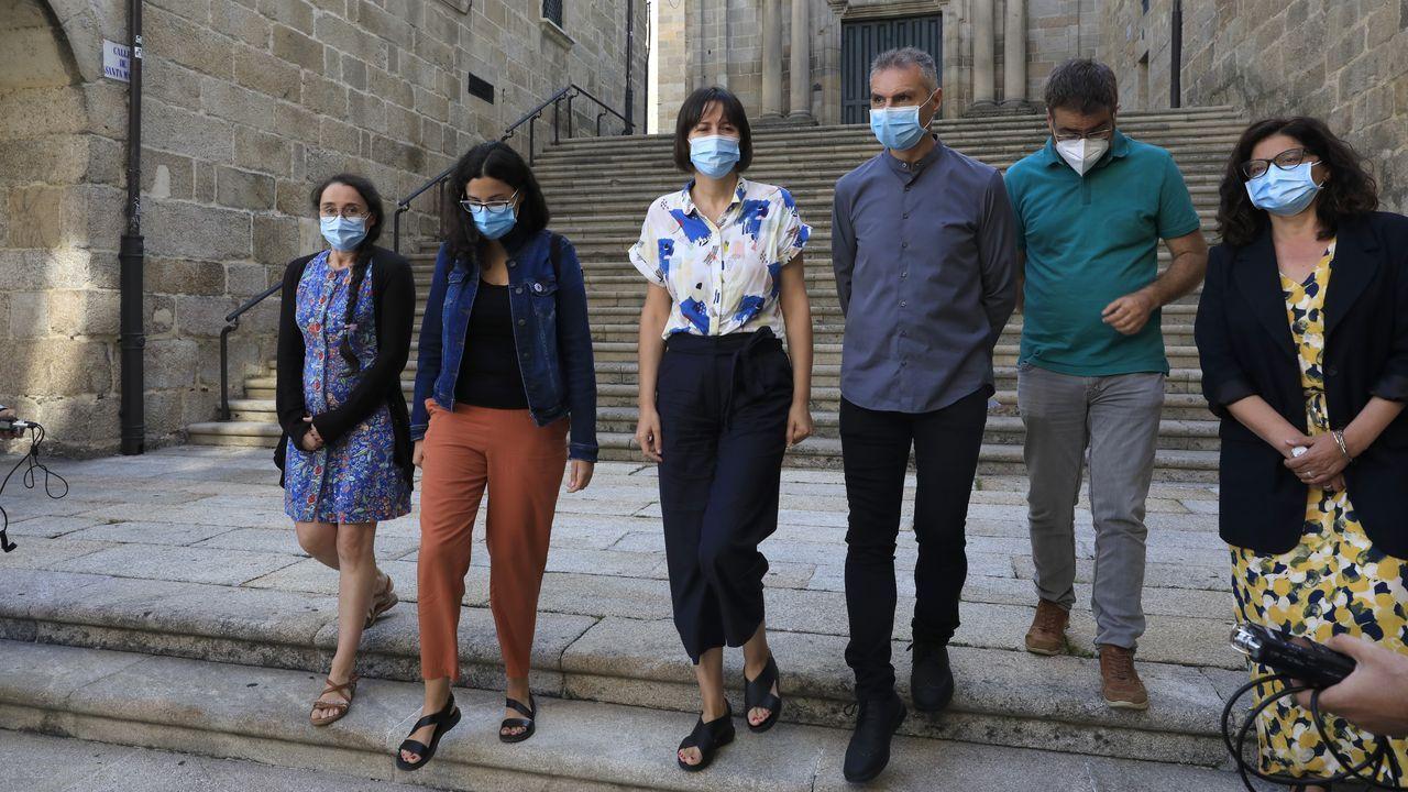 Ana Pontón tras su intervención en Ourense