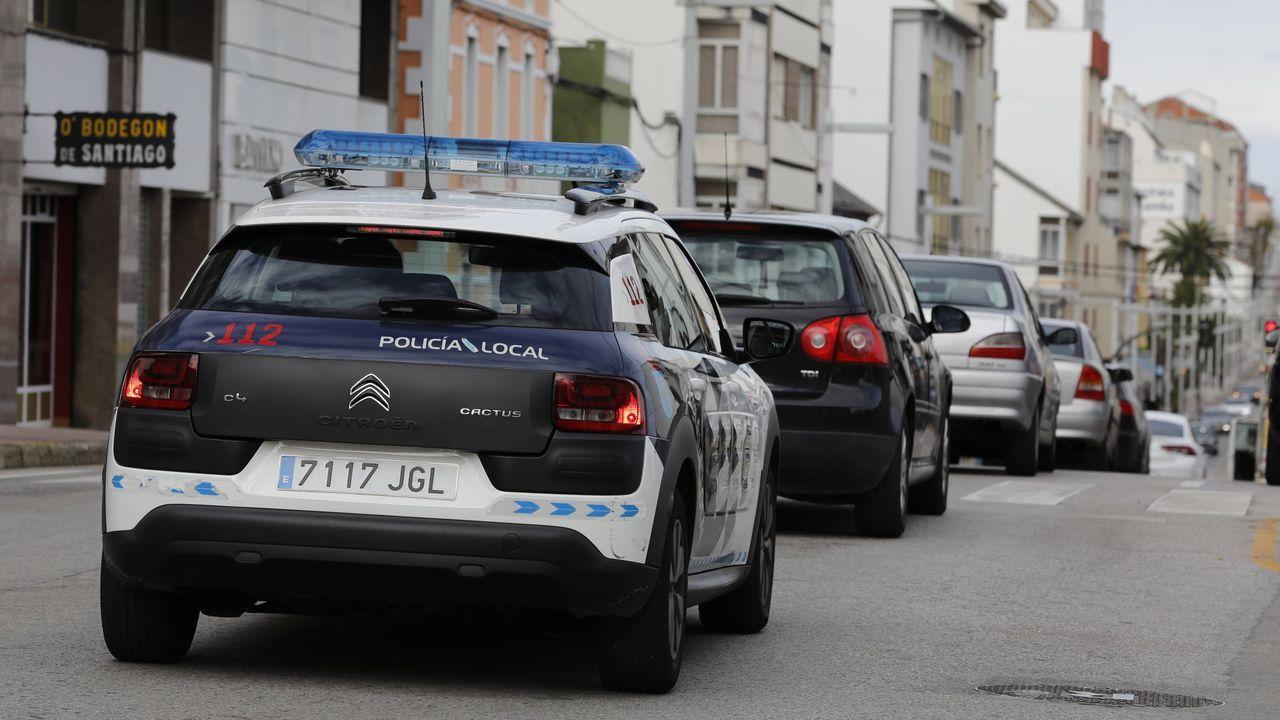 Patrulla de la Policía Local de Burela en imagen de archivo