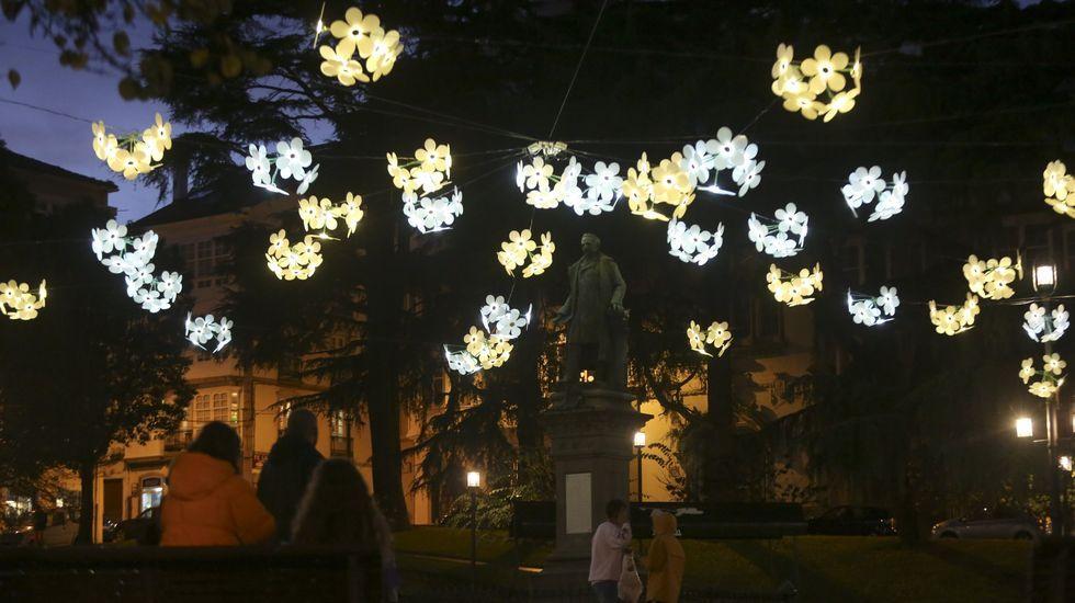 Luces de Navidad en Vigo, el año pasado
