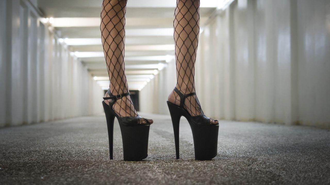La obra «Prostitución» cerró el FIOT en pausa.Mujeres durante una protesta conta la prostitución