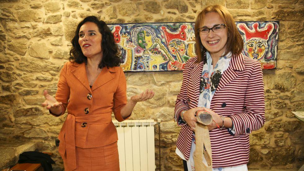 El exitoso Día da Bici de Ponteceso, en imágenes.Borja Prieto y Natalia Flores, a la derecha de la imagen