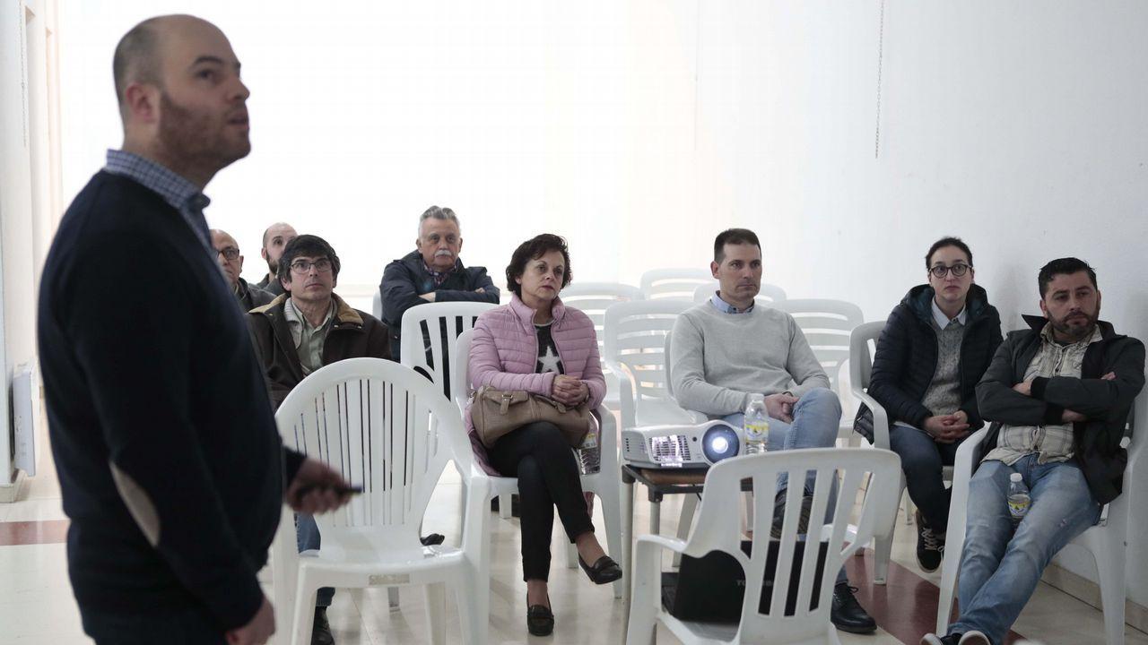 Manifestación de emigrantes retornados.CON LA INFORMÁTICA DE SUÍZA A OLEIROS - Diego Louzán es uno de los gallegos que ha aprovechado la ayuda para emprendedores retornados para impulsar su nueva oportunidad laboral en Galicia, tras darse de alta como autónomo