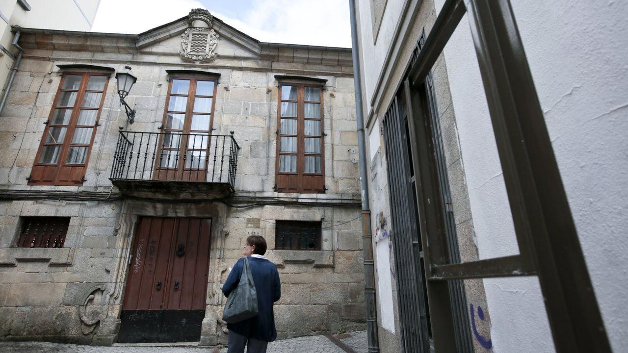 Fachada del palacio de Saavedra de Miraz, que será albergue turístico