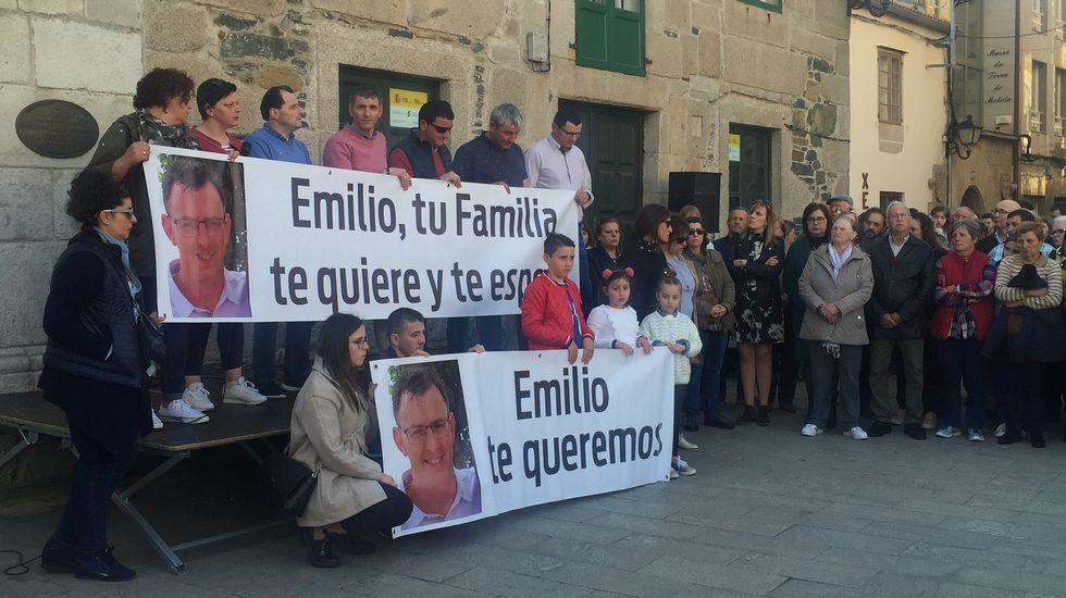 Melide se moviliza en apoyo de la familia del desaparecido Emilio Pintor