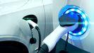 Un punto de recarga para coche eléctrico