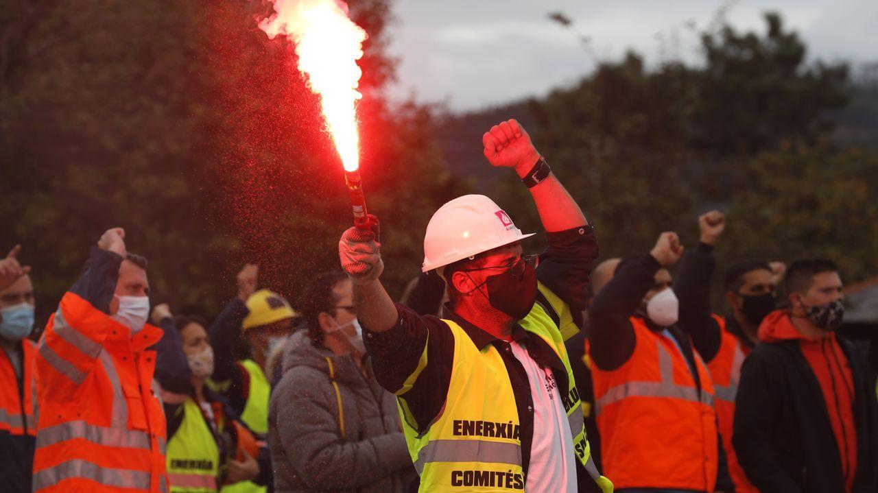 Trabajadores de Alcoa en Burela
