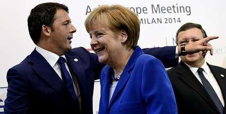 Los estudiantes gallegos vuelven a salir a la calle en contra de la Lomce.Renzi parece señalar el camino de vuelta que debe seguir Merkel; ambos, ayer, durante una cumbre en Milán, junto a Barroso.