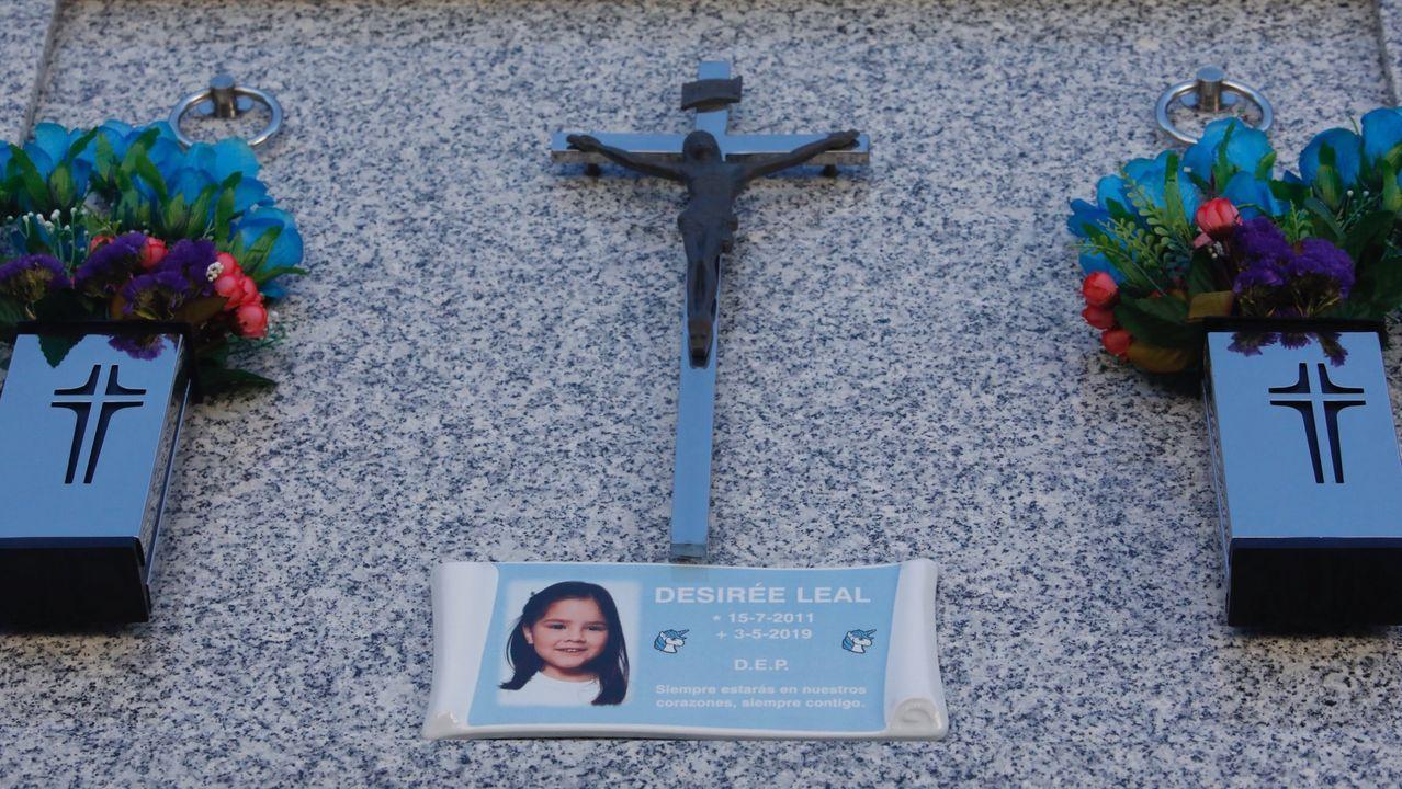 Lápida de la pequeña Desiree Leal