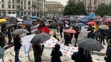 Concentración de los hosteleros en Oviedo