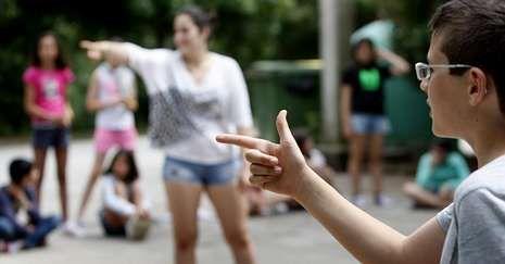 Imagen de archivo de un campamento de verano para jóvenes en el albergue municipal.