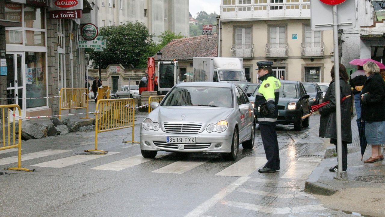 Accidente en la N-VI, a la altura de Queirís.Imagen de archivo de la Policía Local de Betanzos
