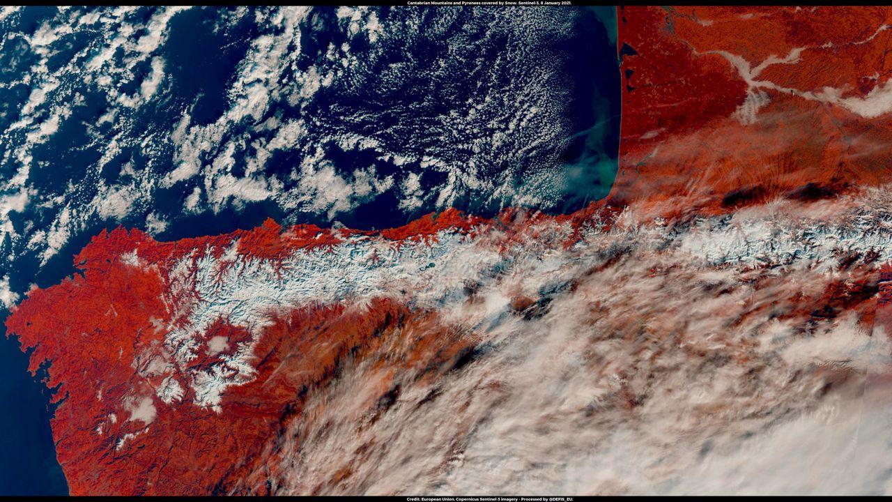 Imagen aérea de la Cordillera Cantábrica