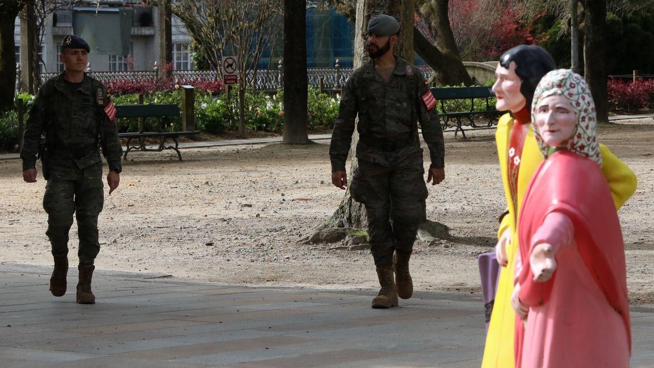 Soldados de la Brilat en Santiago