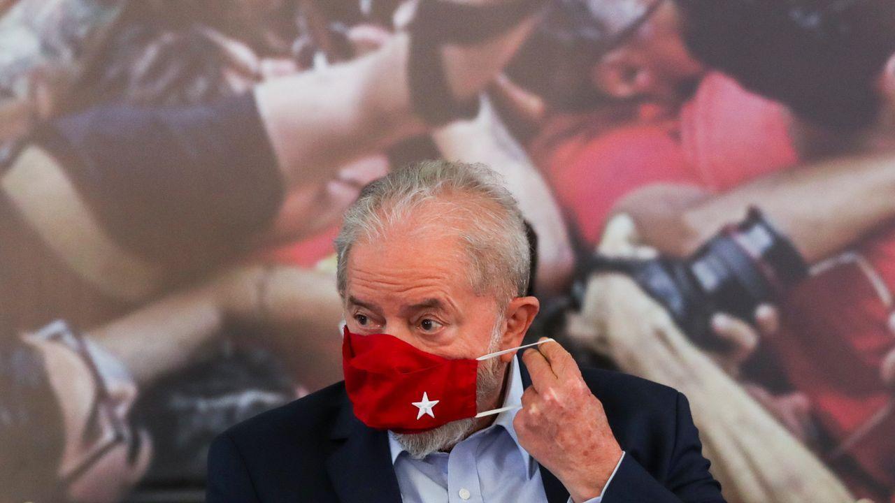 Lula, durante su comparecencia en Sao Bernardo do Campo, en el estado de Sao Paulo