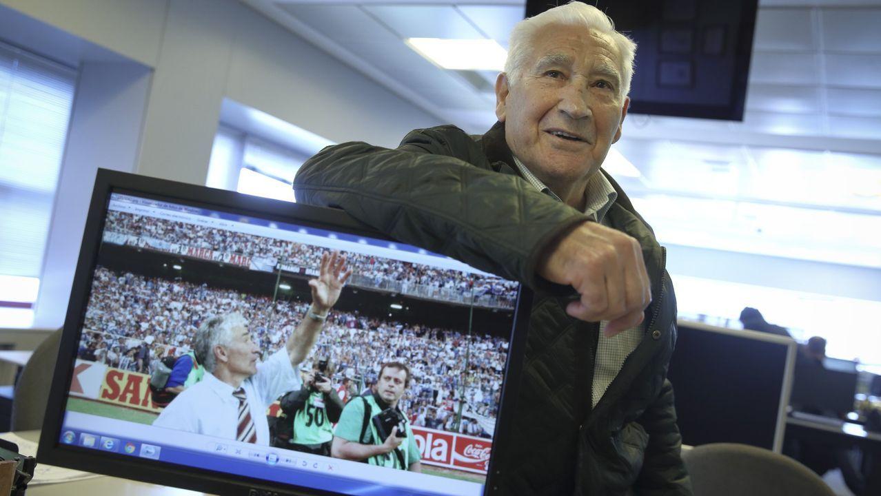 Arsenio Iglesias, Hijo Adoptivo de A Coruña.Arsenio Iglesias, exjugador y exentrenador del Deportivo.