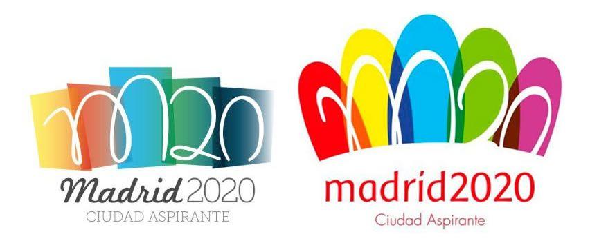 Logo original y el presentado por la Candidatura Madrid 2020