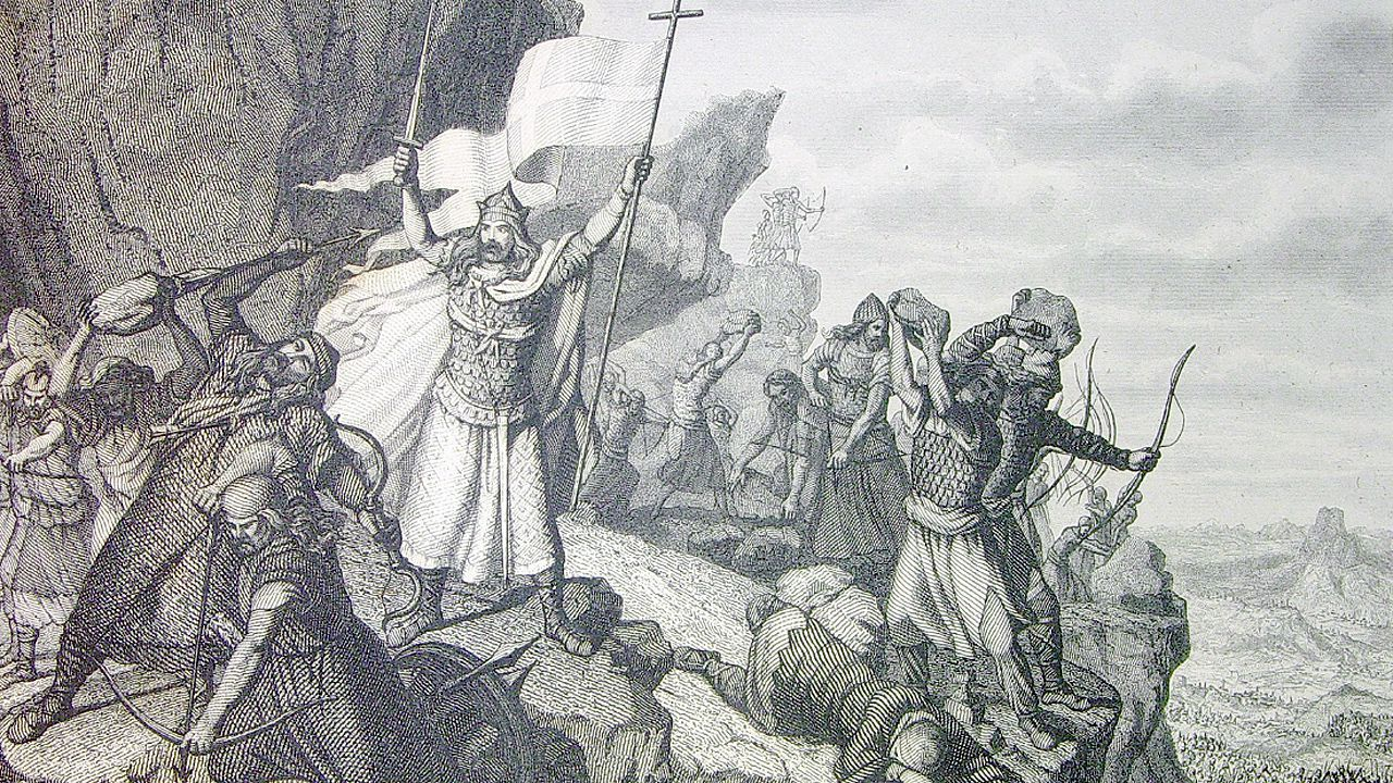 Defensa de Covadonga . Historia universal / por César Cantú.